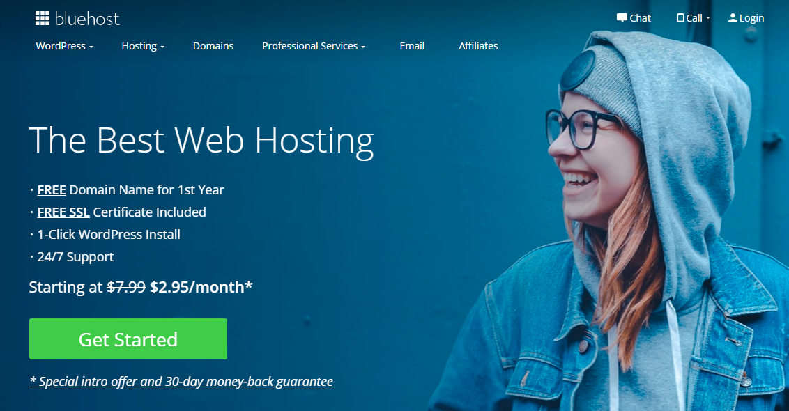 Bluehost is the Second best web hosting firm after namecheap