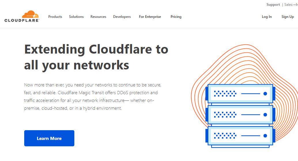 Cloudflare CDN against Attacks