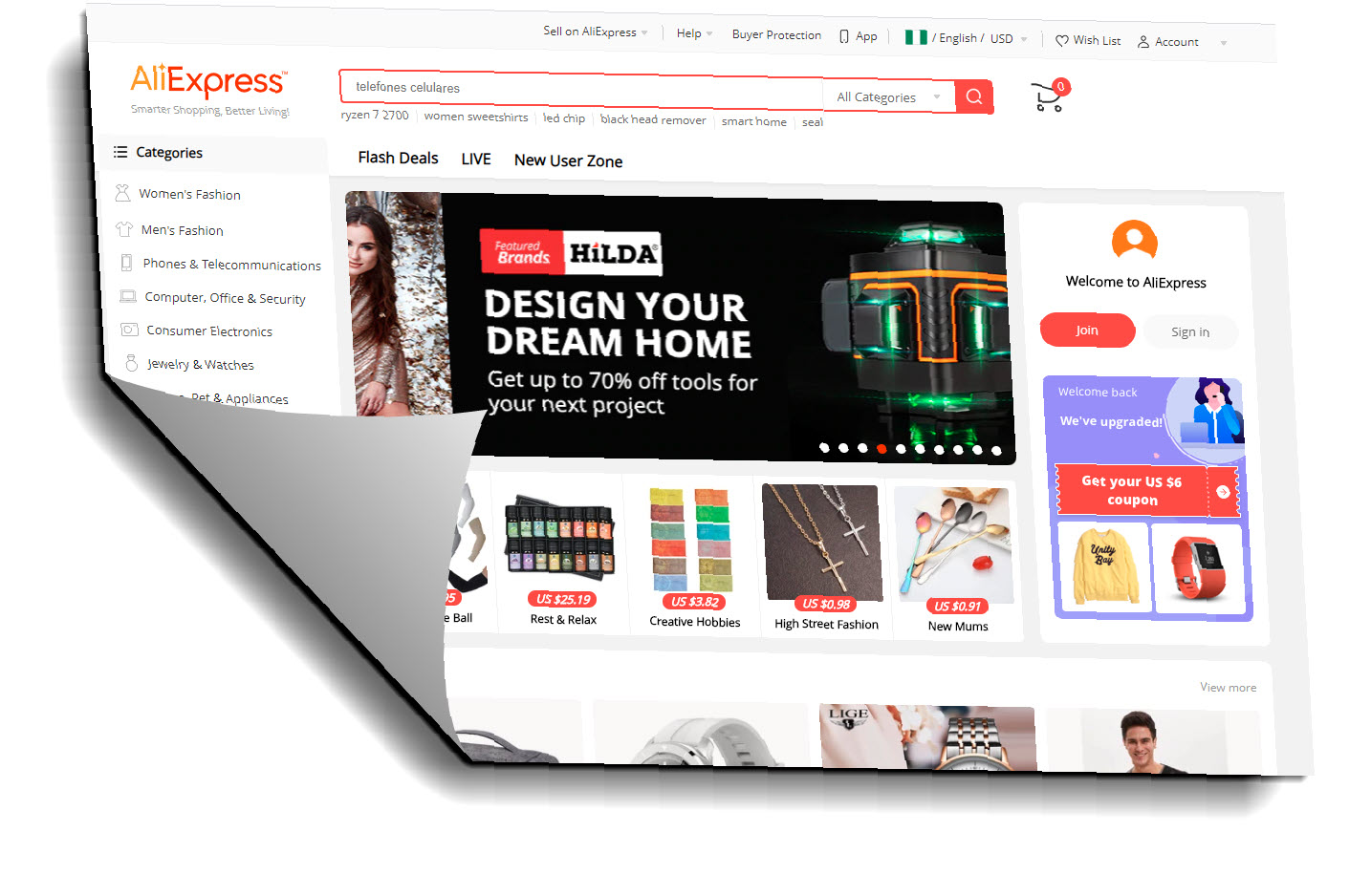 AliExpress Ecommerce websites
