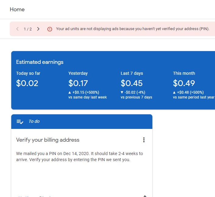 hello adsense 1 AdSense Address Verification Without Pin! 2021 Complete Guide